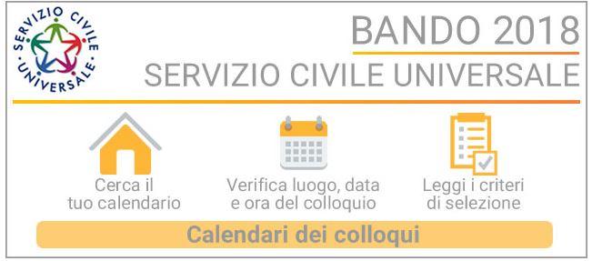 Protezione Civile Bellizzi - servizio civile calendario dei colloqui