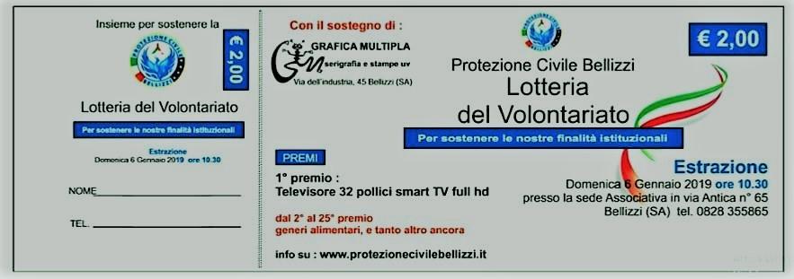 Lotteria - protezione civile bellizzi
